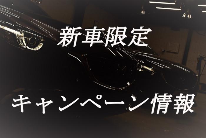 新車限定キャンペーン情報